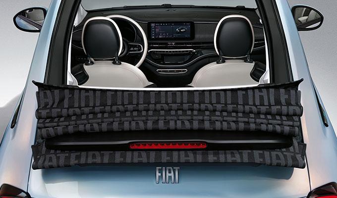 oben ohne mit dem neuen Fiat 500 Cabrio