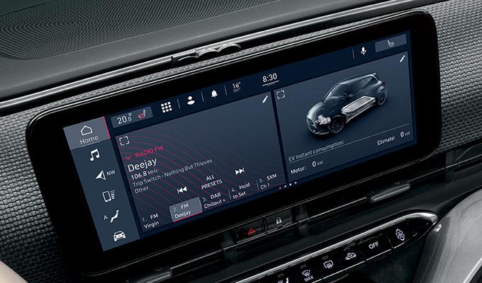 top Entertainment System beim neuen Fiat 500e