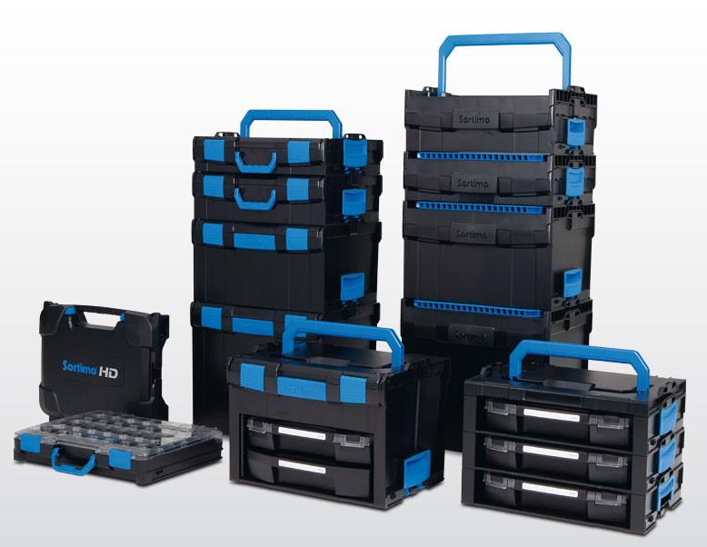 Mobile Sortimente. Große Auswahl an unterschiedlichen BOXXen. Integration der BOXXen in die Fahrzeugeinrichtung. Sicherer und ordentlicher Transport von Kleinteilen und Werkzeugen