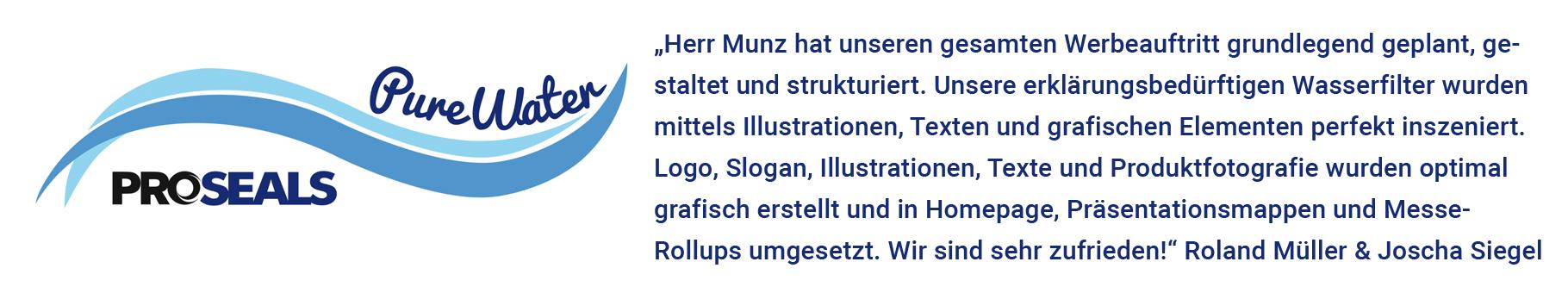 Referenz, Herrn Müller, Proseals-Purewater-Wasserfilter, Backnang