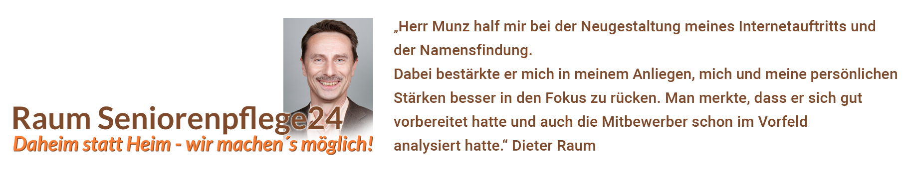 Referenz, Dieter Raum Seniorenservice, Weissach im Tal bei Backnang