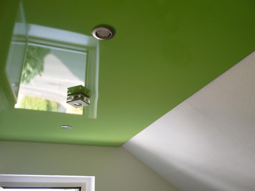 Spanndecke Grün glänzend Kinderzimmer Holzwickede
