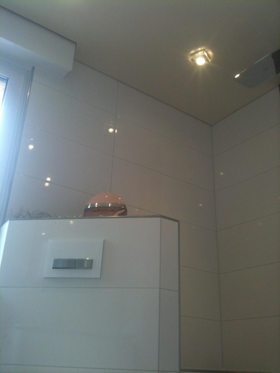 Spanndecke Champagner glänzend Waltrop Badezimmer