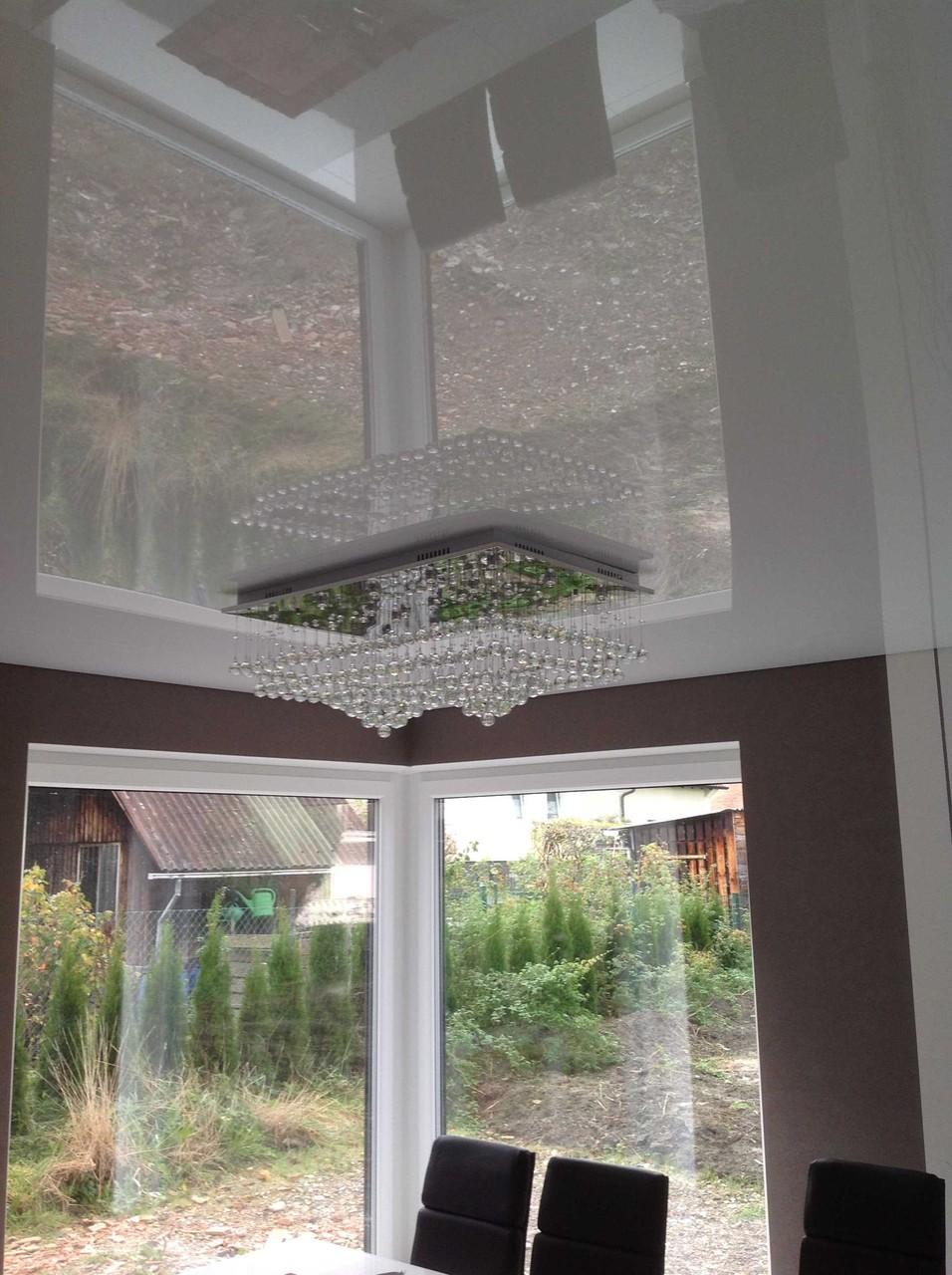 Spanndecke weiß glänzend Wohnzimmer EFH Unna