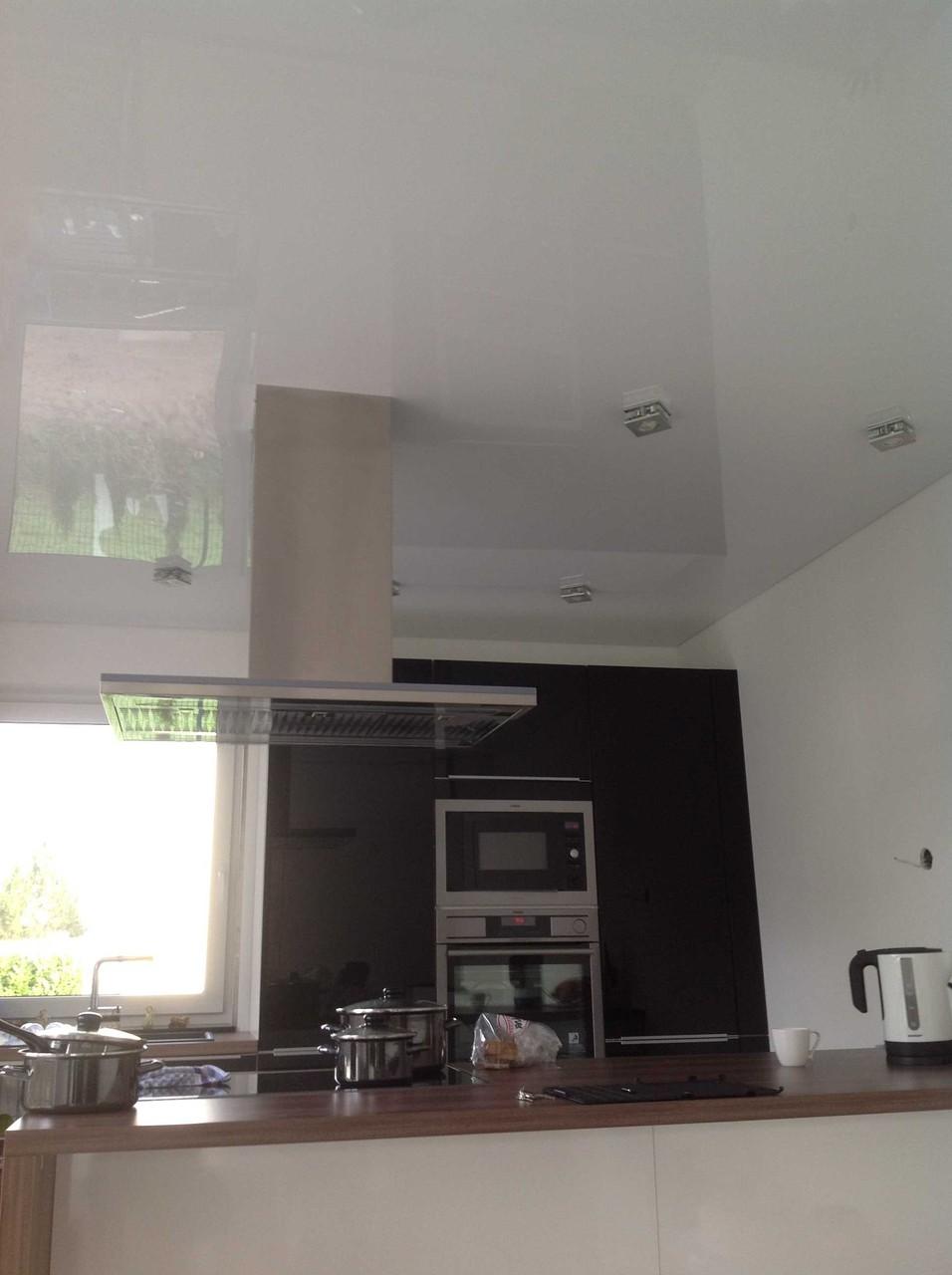 Spanndecke weiß glänzend Küche EFH Unna