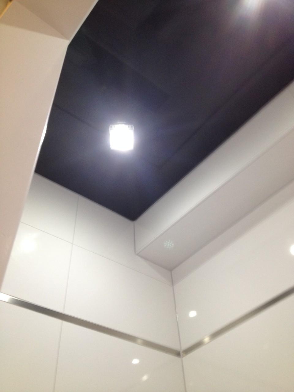 Spanndecke schwarz glänzend WC ETW Dortmund