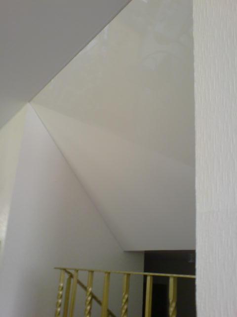 Spanndecke Weiß glänzend Schräge Flur Arnsberg