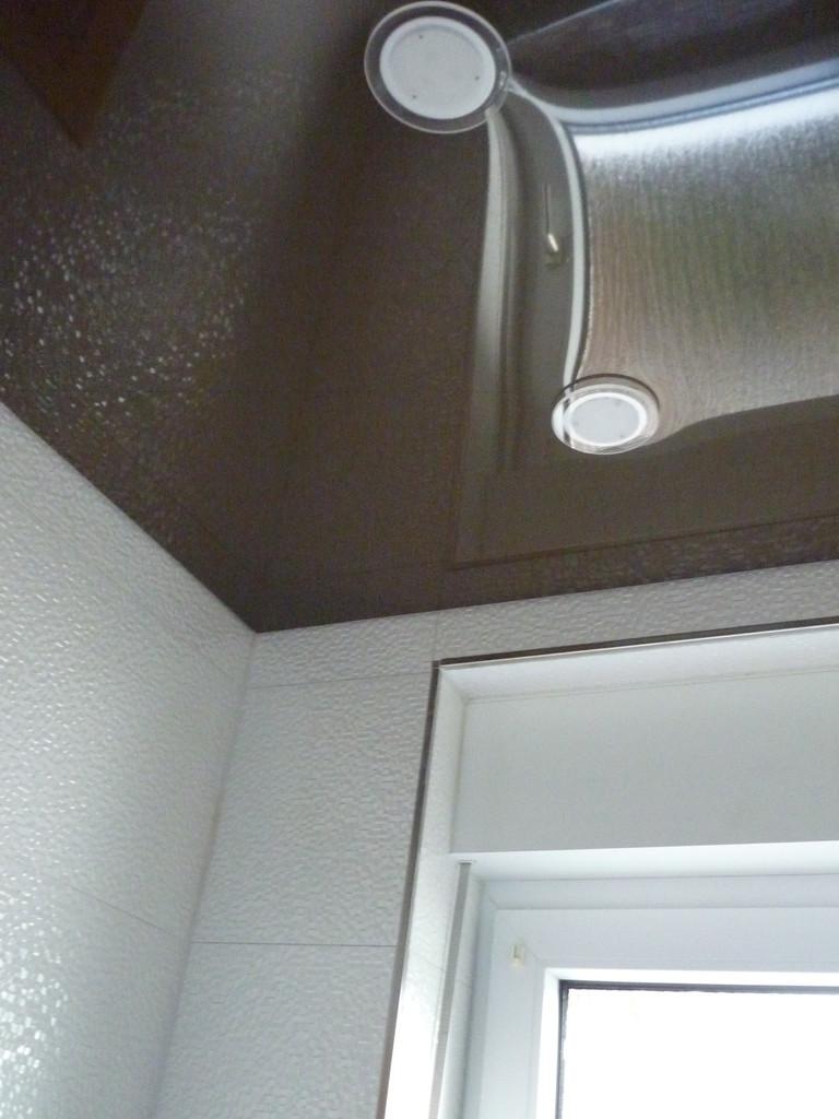 Spanndecke Schoko glänzend Gäste WC Unna