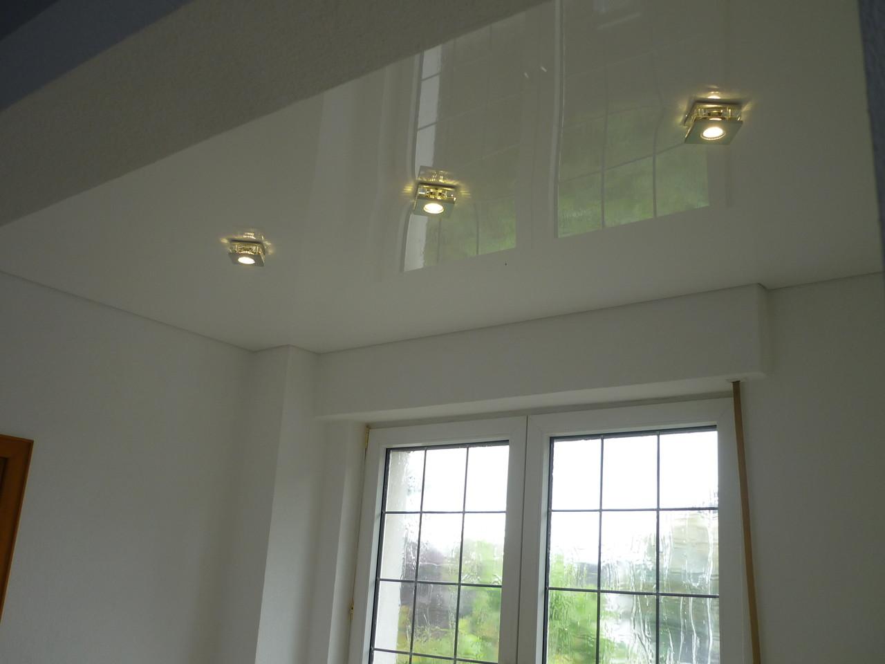 Spanndecke Weiß glänzend Menden Esszimmer