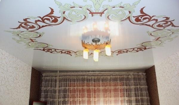 Spanndecke bedruckt Ornamente