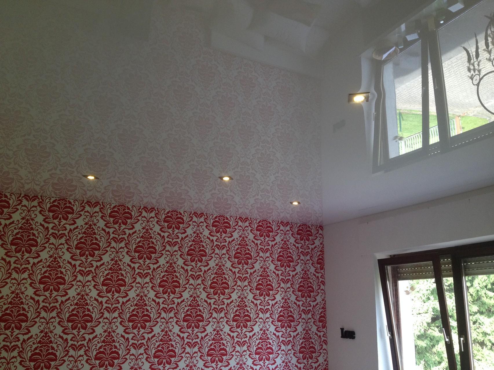 Spanndecke weiß glänzend Jugendzimmer Holzwickede