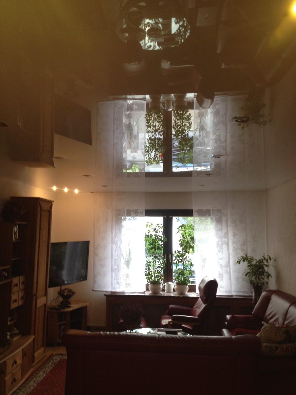 Spanndecke weiß glänzend Wohnzimmer Dortmund