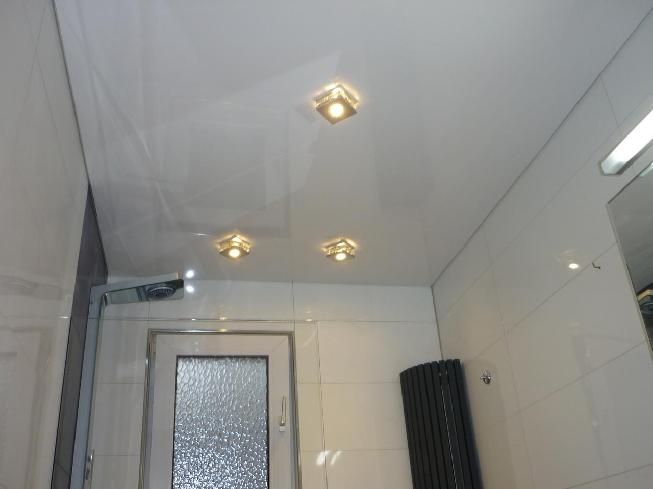 Spanndecke Weiß glänzend Badezimmer Dortmund