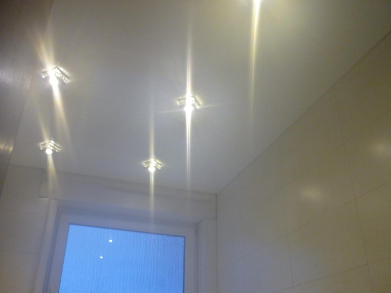 Spanndecke Weiß glänzend Badezimmer Holzwickede