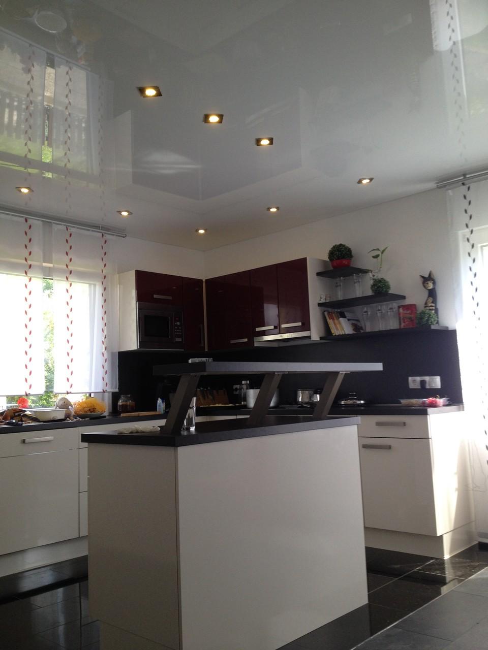 Spanndecke weiß glänzend Wohnzimmer/Küche EFH Unna