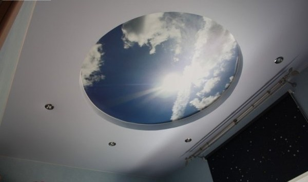 Spanndecke Himmel bedruckt