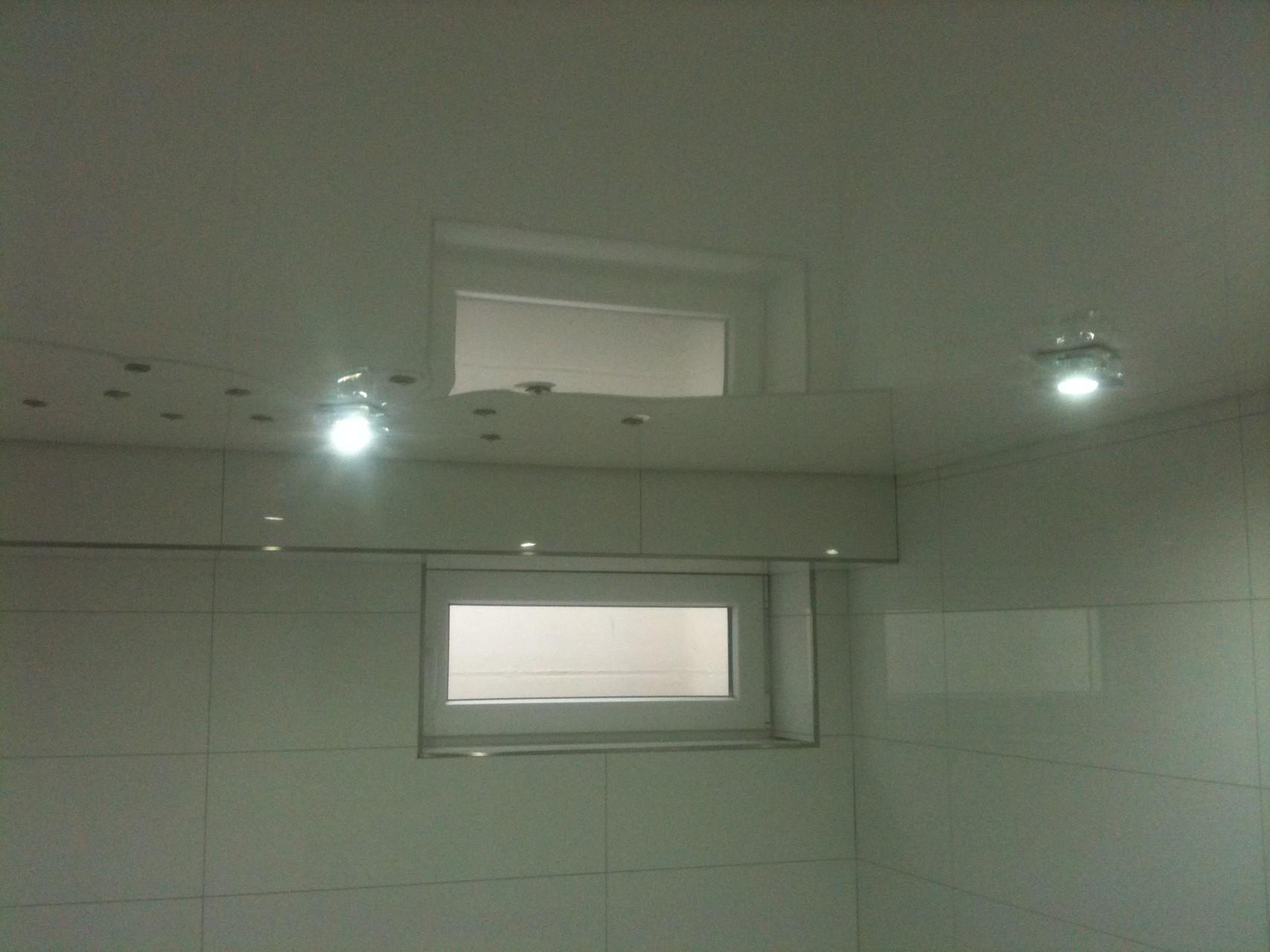 Spanndecke weiß Badezimmer Iserlohn