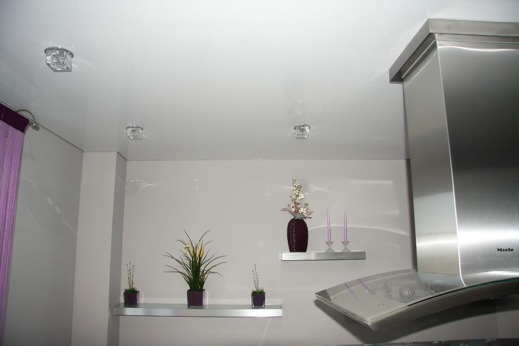Spanndecke Weiß glänzend Küche Holzwickede
