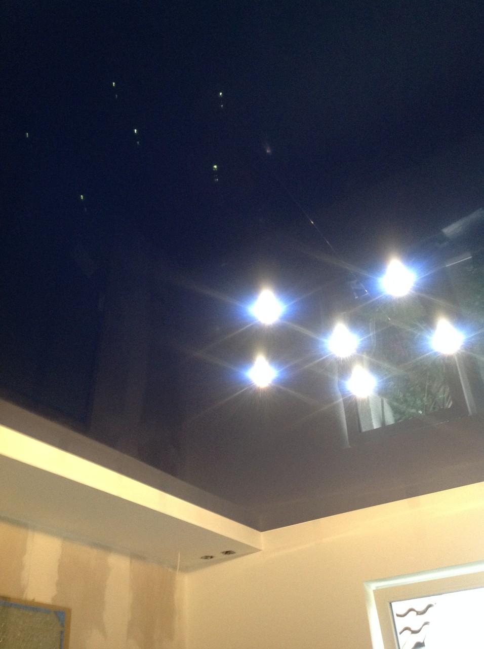 Spanndecke dunkelblau glänzend Schlafzimmer Dortmund