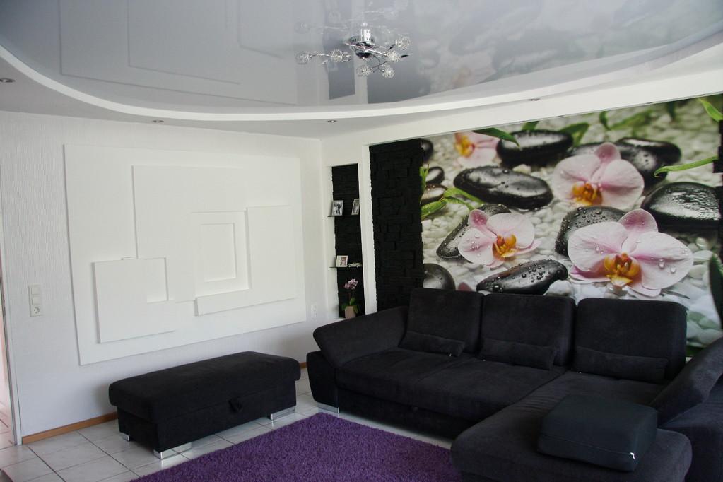 Spanndecke Hellgrau glänzend Wohnzimmer Holzwickede