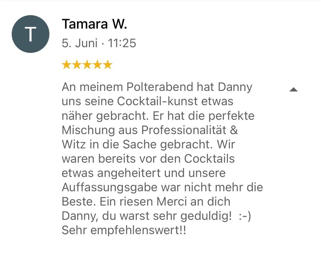Tamara, Cocktail-Workshop