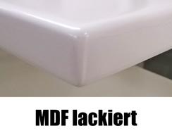 Holzfensterbank Weiß MDF lackiert