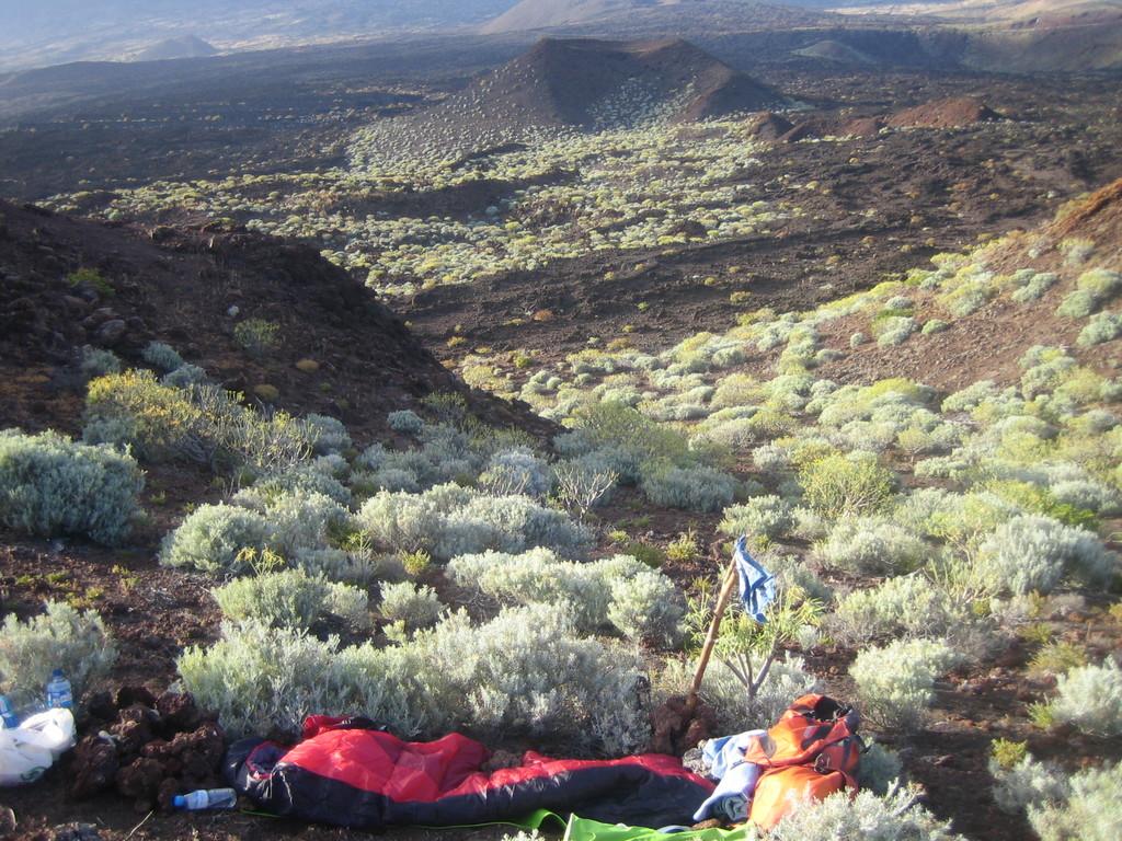 Kraftplatz einer Teilnehmerin in der Lavawüste