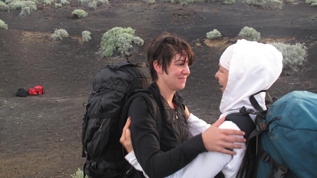 Zwei Teilnehmerinnen nach der Rückker