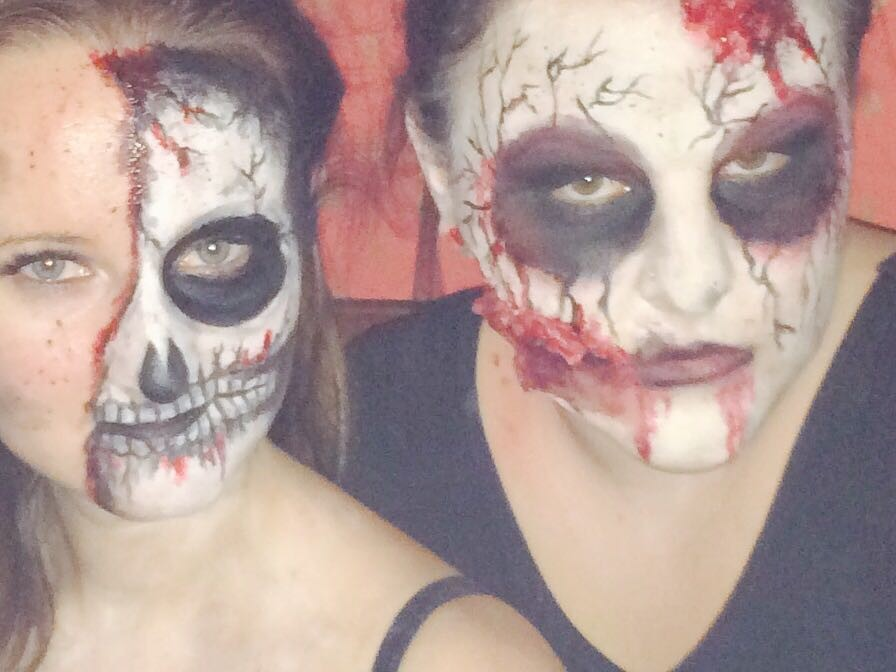 Anna & Kristina auf der Halloween-Party ;)