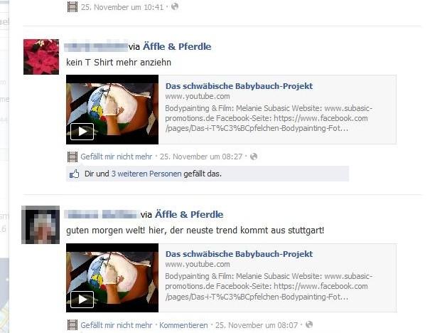 Und hier noch die nettesten Kommis aus Facebook! ;)