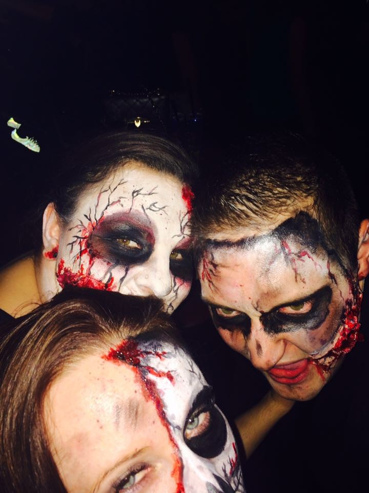 Kristina, Anna & Alex auf der Halloween-Party ;)