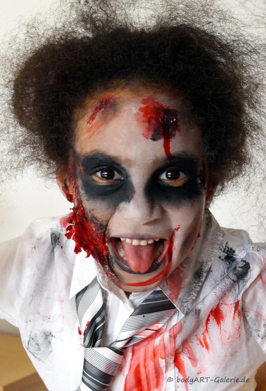 Nachher: Zombie Joana ;) - Markgröningen, 31.10.14 © bodyART Galerie