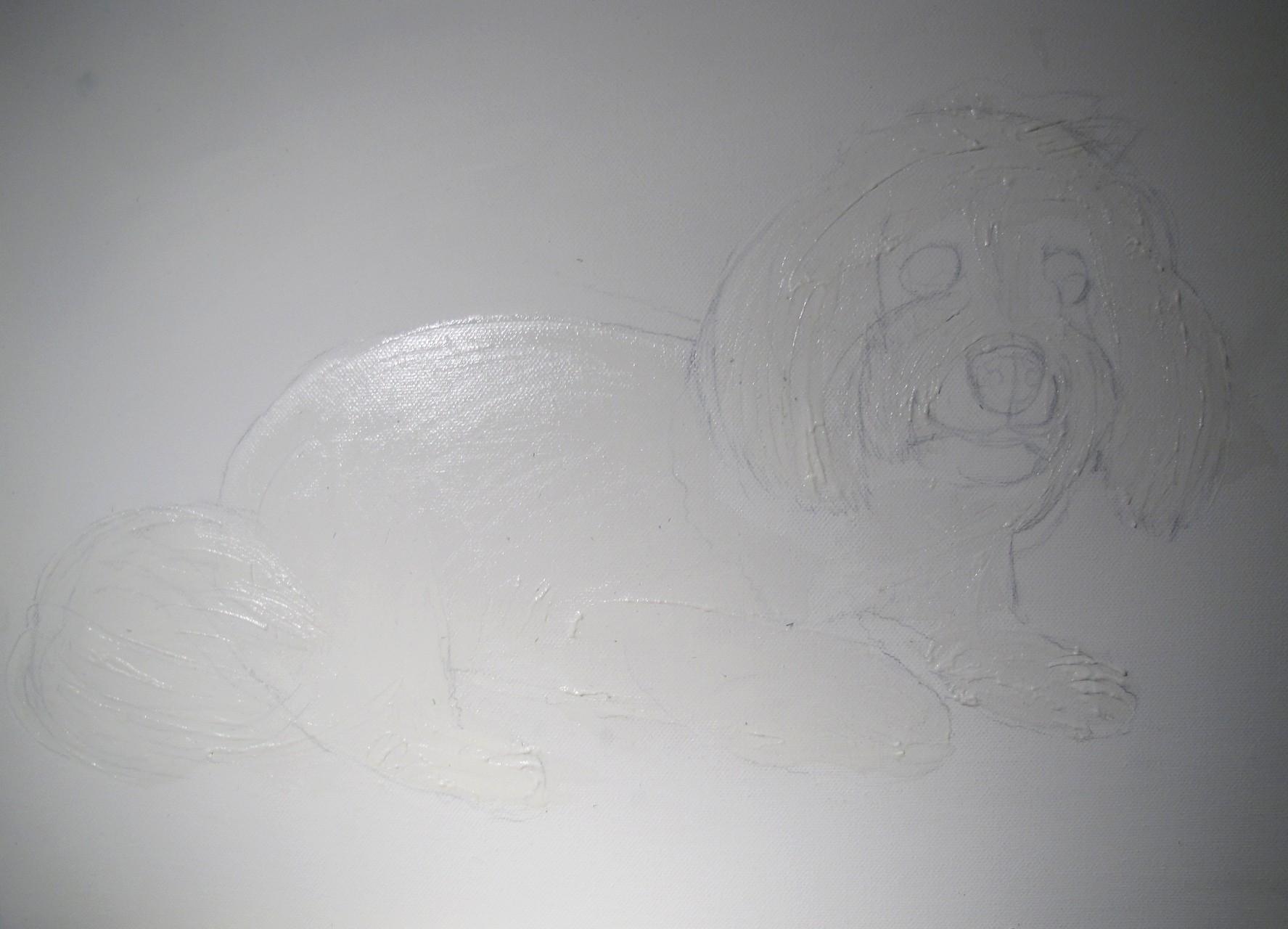 """Die Effektpaste ist nun soweit drauf, damit das Bild nachher nicht """"aalglatt"""" aussieht und eine schöne """"Tiefe"""" bekommt. © bodyART Galerie"""