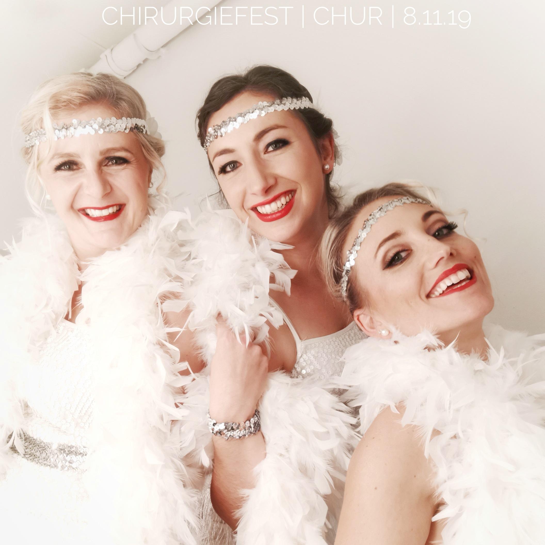 Charleston Tanzshow mit Aerial Silk Showeinlage für Gewerbverein Hünenberg