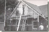 Die neue Schützenhalle im Rohbau