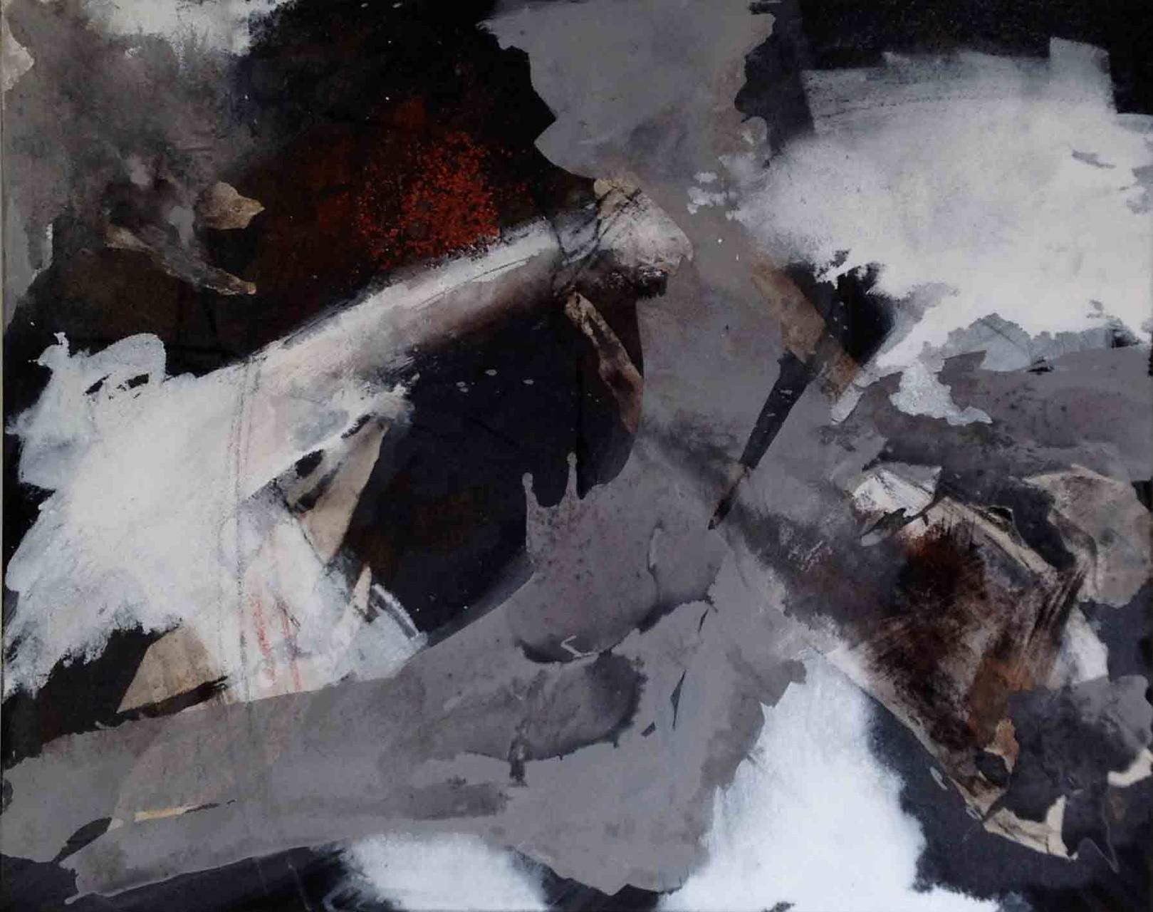 Island-1: Mischtechnik auf Leinwand; 80x100 cm