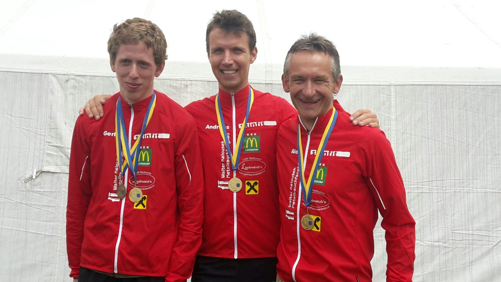 vlnr.: Gerhard (Gesamtdritter), Andreas (Gesamtzehnter) und Alois (Gesamterster)