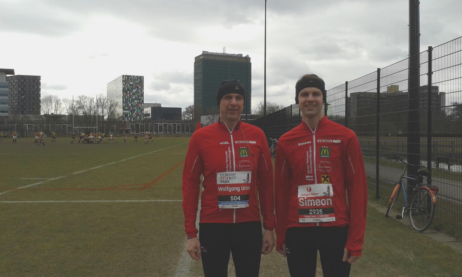 Unser Team in Holland: Vater & Sohn: Wolfgang & Simeon