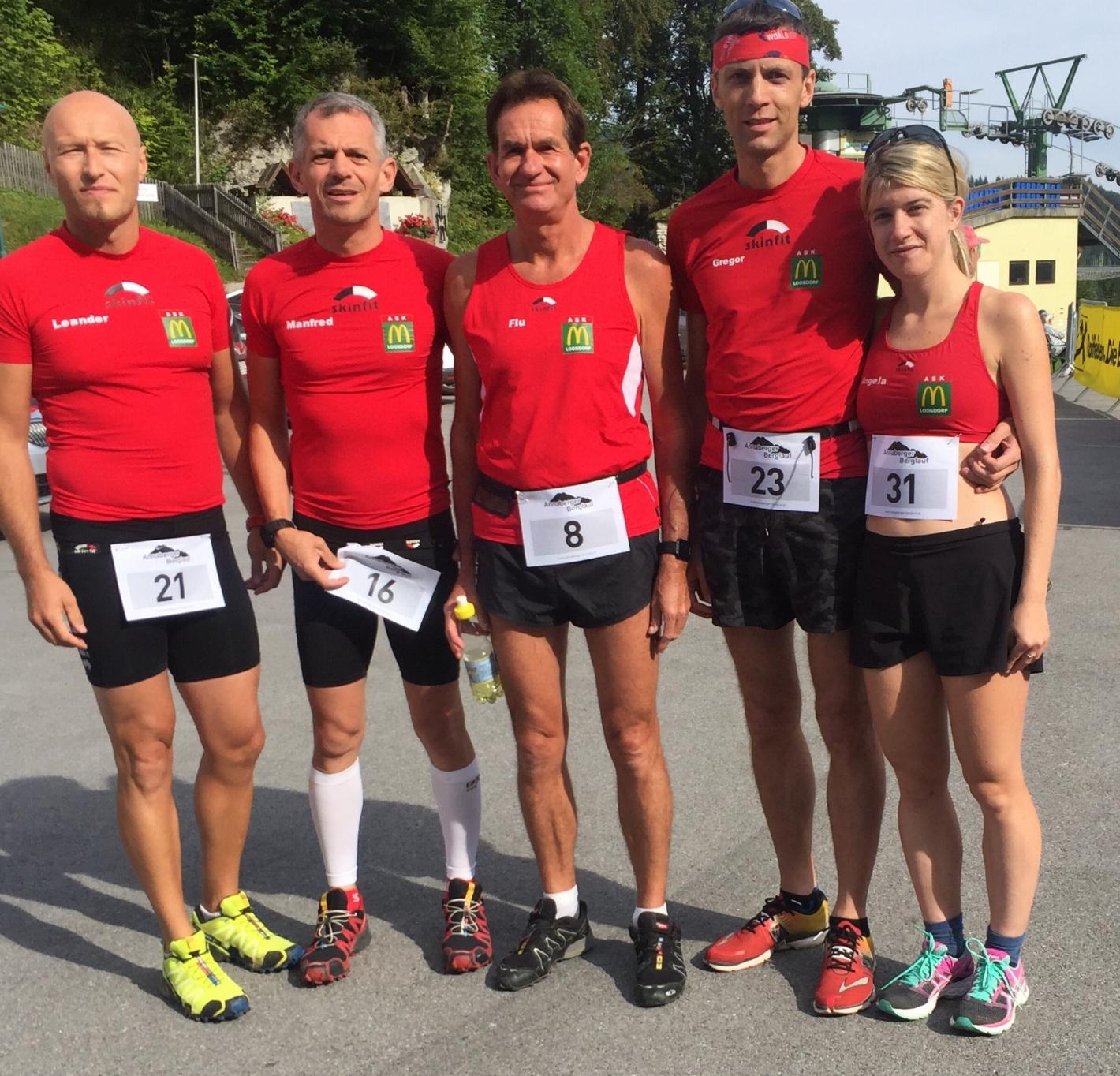 vlnr.: Leander, Manfred, Ernst, Gregor, Angela