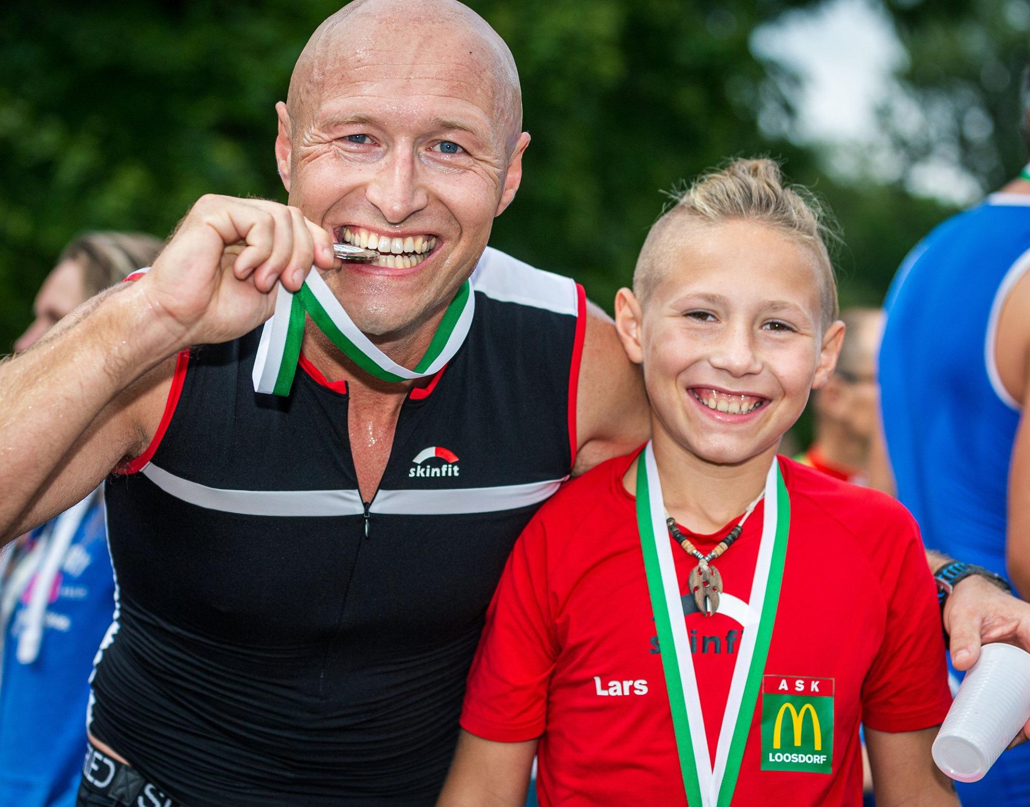 Geschafft! 300 m Schwimmen, 20 km Rad, 5 km Laufen