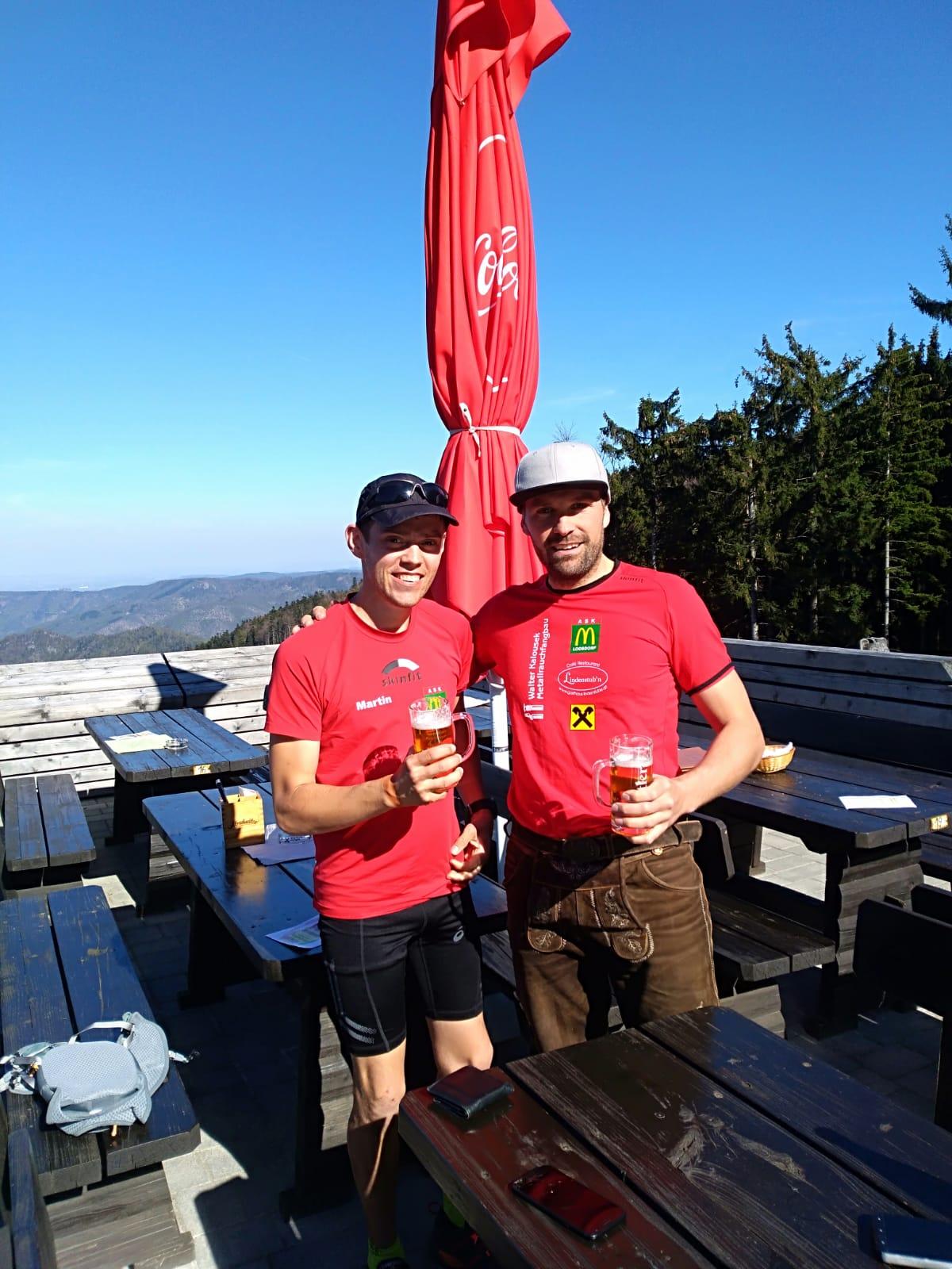 Unser Berglaufteam Jauerling: Martin & Jeff
