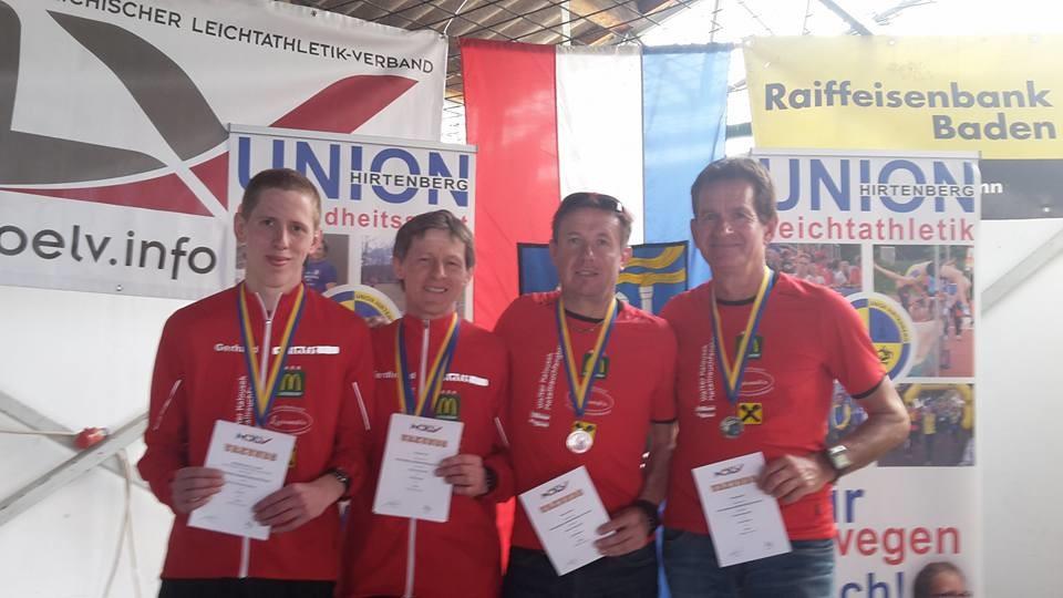 Die Sieger: Gerhard, Landesmeister Ferdl, Herbert & Ernst Vizemeister