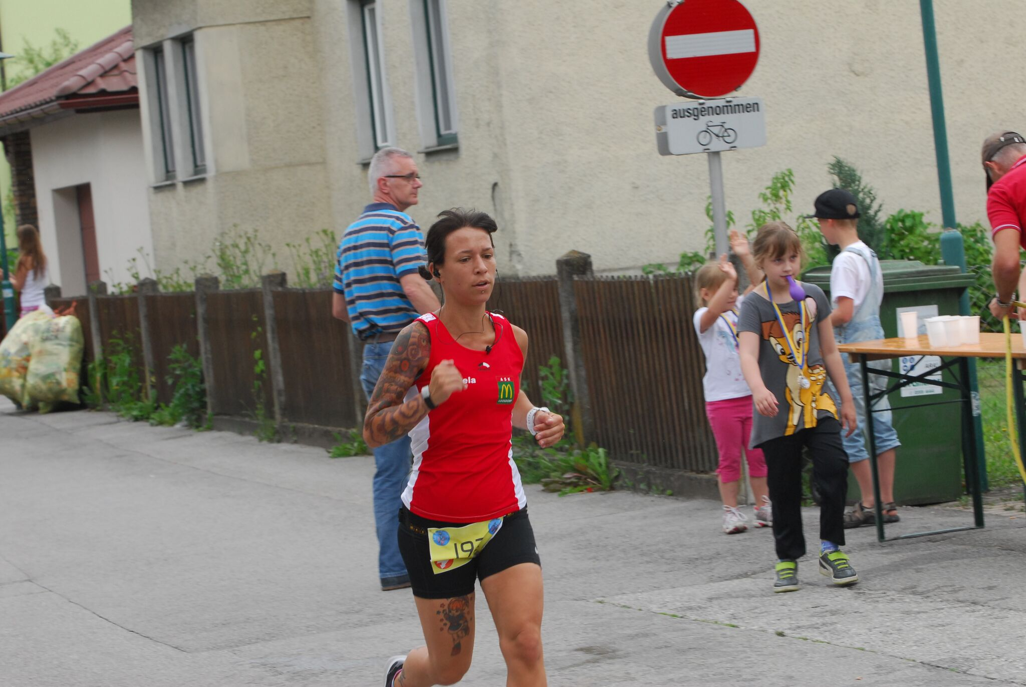 Daniela im Finish
