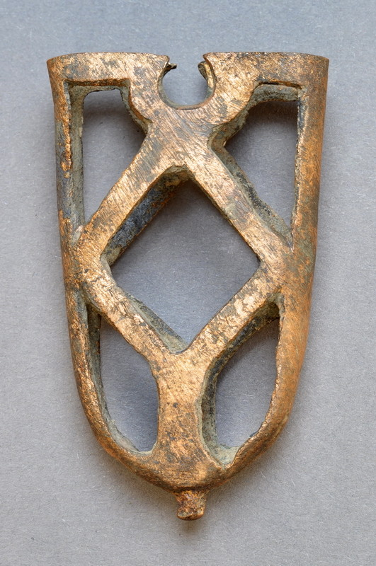 Ortband, 13. Jhdt., gefunden 2008 bei Ausgrabungen an der Hörder Burg.
