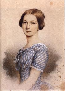Josef Resch (1819-1901) : Fanny Jägerhuber / 19才のころ。レッシュはファニーの絵画教師だった