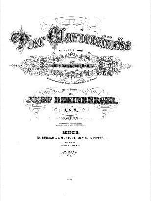 op.1の表紙。「JOSEF RHEINBERGER」であることがお分かり頂けるだろうか?