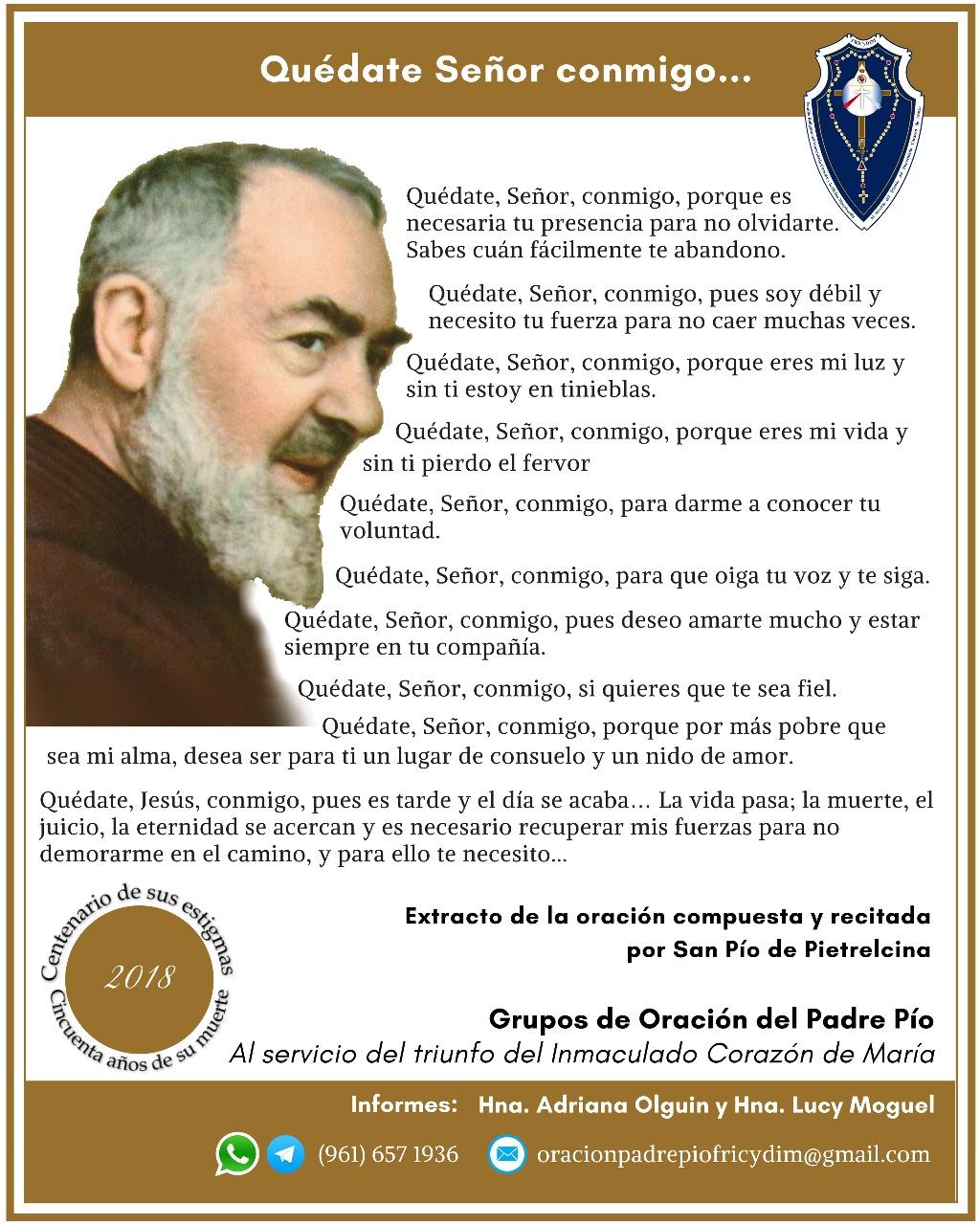 Grupos de oración Padre Pío