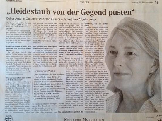 Cellesche Zeitung Oktober 2014