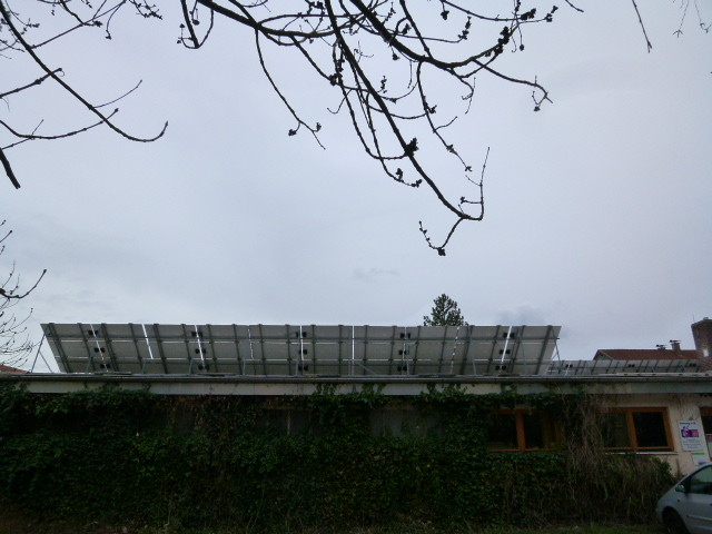 Aufständerung Amperhof Solar Bürgerpark