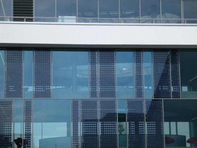 Solaranlage mit Glas Elementen